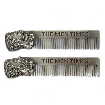 10 Pcs Fashion Beard Head Stainless Steel Comb Men's Beard Modeling Carding Tool