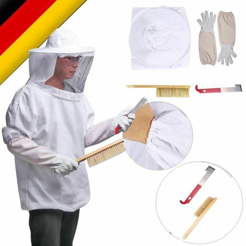Qualitäts Imkerjacke Imkerblouson Imkeranzug Tunika mit abnehmb. Hut + Werkzeug