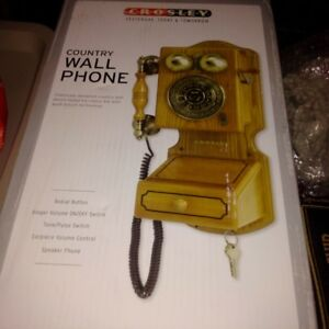 CROSLEY Country Wall Phone--Still in unopened box!