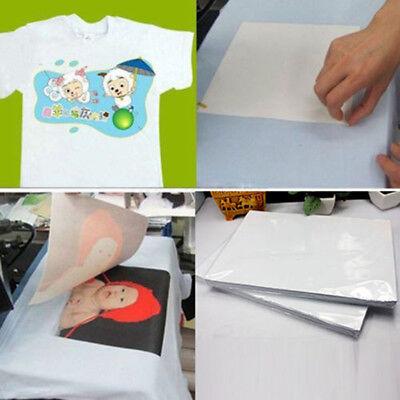 2pcs T Shirt A4 Transfer Paper Iron-on Heat Press Light Fabrics Inkjet Print Hot