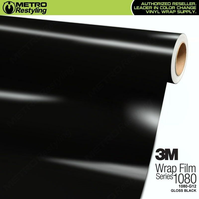 Car Parts - 3M 1080 Series GLOSS BLACK Vinyl Vehicle Car Wrap Decal Film Roll G12