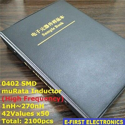 0402 Smd Chip Inductor Assorted Kit 1nh270nh 42valuesx50 Sample Book Murata