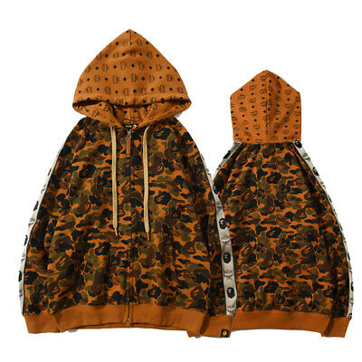 Bape A Bathing Ape Hoodie Hooded Jacket Full Zipper Sweatshirt Coat Camouflage