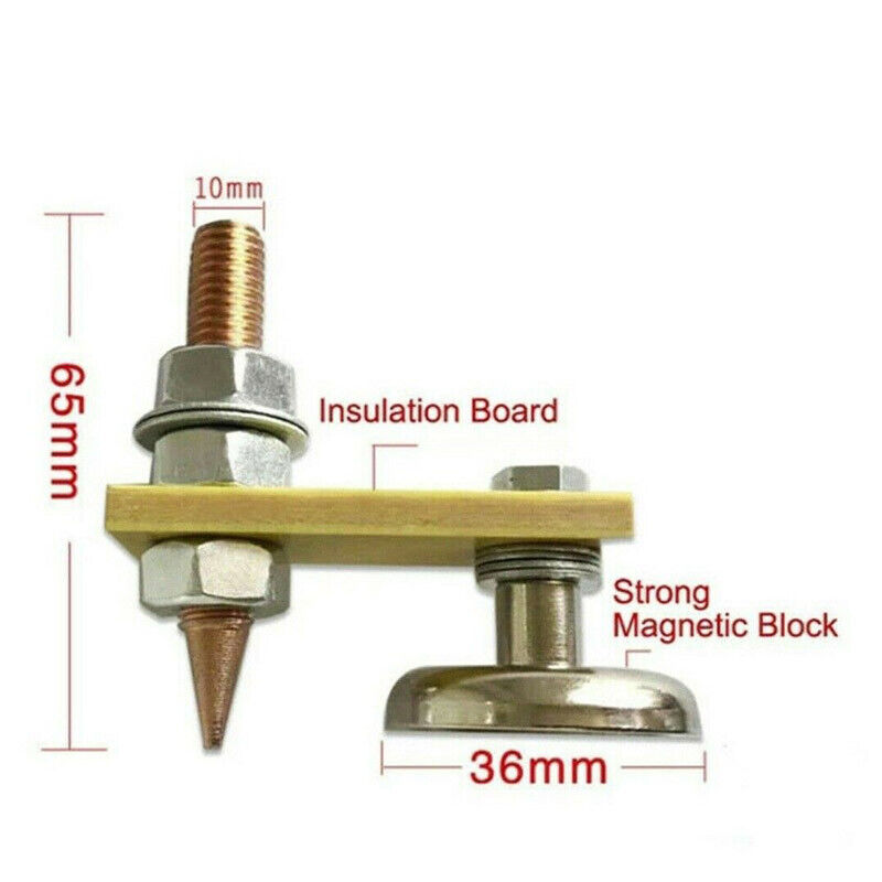 Hot Metal Welding Magnet Head Magnetic Welding Support Ground Clamp Without Tail