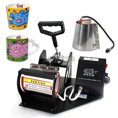 Heat Press Transfer Sublimation Machine Dual Digital For Cup Coffee Mug 1112oz