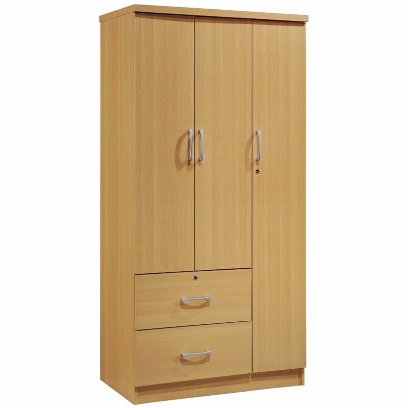 Pemberly Row 3 Door Armoire with 2 Drawer in Beech
