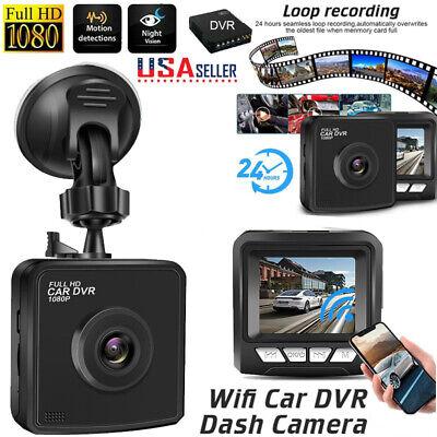 Wifi Car Hidden 1080P HD Dash Cam Camera Video Recorder G-Sensor Night Vision