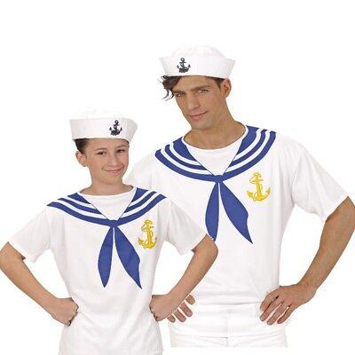 MATROSE SEEMANN SAILOR T-Shirt bedruckt Partner Kostüm für Damen Herren Kinder