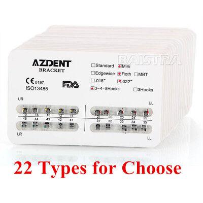 Azdent Dental Orthodontic Metal Brackets Mini Standard Rothmbt Slot.022 018
