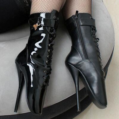European Spike High Heel Stilettos Sexy Fetish Ankle Ballet Boot High Heel Shoes