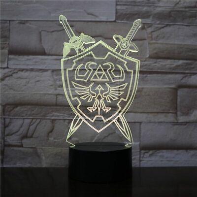 The Legend of Zelda 3D LED Illusion Hologram Light Lamp Nightlamp Flash Gift
