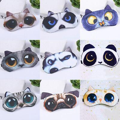 3D Cartoon Travel Sleeping Mask Cover Soft Sleep Mask Aid Makeup Eye Care Tools (Cartoon Eye)