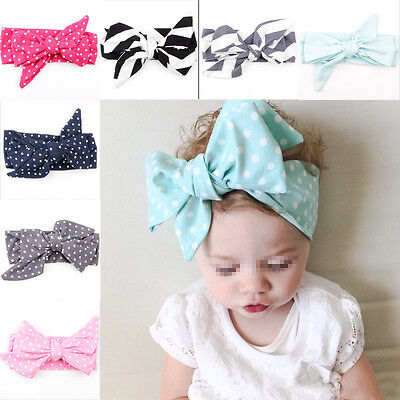 9PCS Cute Kids Girl Baby Toddler Bow Headband Hair Band Accessories Headwear
