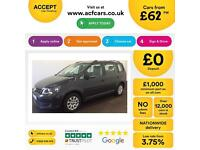 Volkswagen Touran 1.6TDI S FROM £62 PER WEEK!