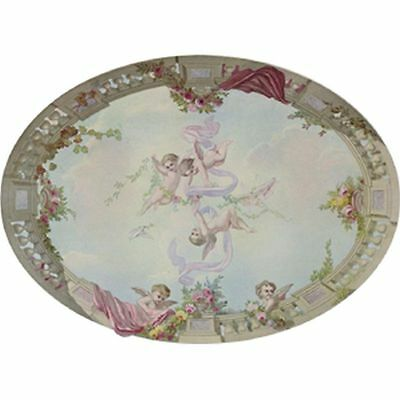 Dollhouse Wallpaper Ceiling Mural Sky, Cupid, & Roses