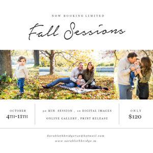 Fall Mini photo sessions