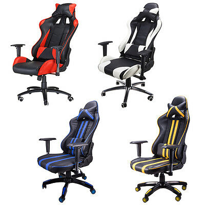 Racing Style Gaming Chair Computer High Back Cozy Armrest Extra Wide Cushion