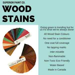 Waterbased Canadian Made Wood Stains