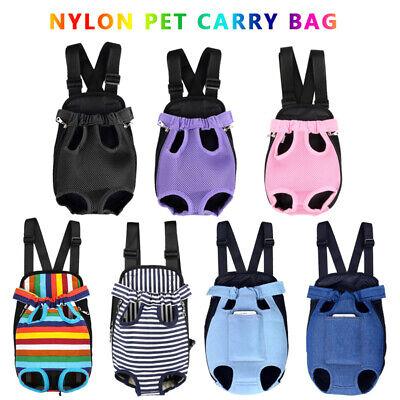 Pet Puppy Dog Cat Carrier Front Backpack Net Bag Tote Sling Nylon Mesh Legs (Backpack Bag Carrier)