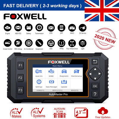 All System Scanner OBD2 Diagnostic Code Reader EPB Oil Reset Foxwell NT624 Elite
