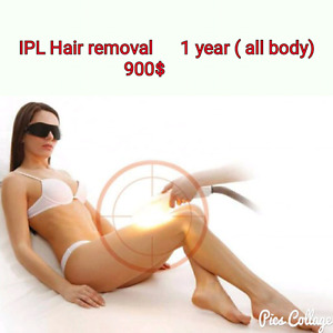 1  Year IPL Hair removal (all body)