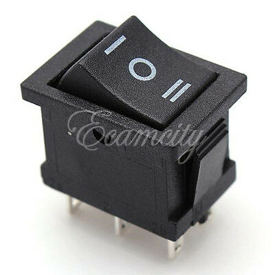 2pcs 6pin Dpdt On-off-on 3 Position Snap Boat Rocker Switch 6a250v 10a125v Ac