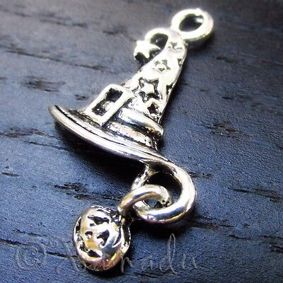 Halloween Wizard Hat, Witch Hat Wholesale Charm Pendants C8920 - 10, 20 Or 50PCs - Halloween Charms Wholesale