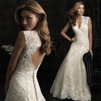 Plus Size Bridal Dresses (Lace Mermaid Wedding Dresses Bridal Gown V neck Court Train Open Back Plus size )