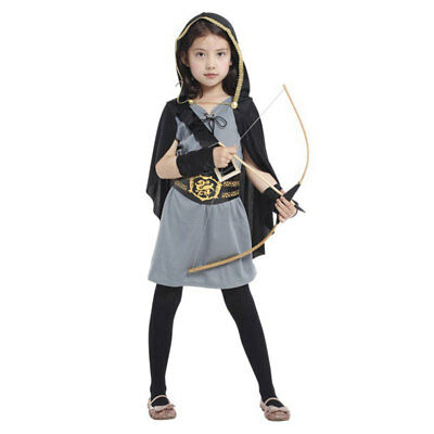 Halloween Costume Warrior Soldier Archer Knight Hero Huntress Costumes for Girls (Archer Costume For Girls)