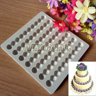 Bead Pearl Chain Silicone Fondant Mould Cake Border Decor Jewelry Sugarcraft DIY