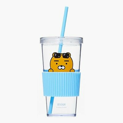 Kakao Friends Official Goods Straw Cold Cup Ryan Tumbler Mug Water Coffee Cup