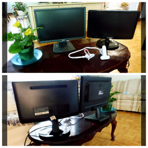3 GOOD PC MONITORS 19-24'' small Appliences