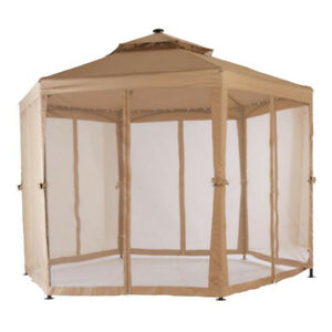 10 ft. x 10 ft. Solar LED Lighted Gazebo REPLACEMENT CANOPY