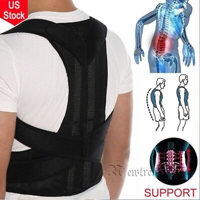 Body Posture Corrector Support Back Straightener Shoulders Brace Belt Adjustable