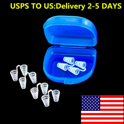 6Pc Soft Nasal Dilators Nose Clip Vent Breathing Stoper Anti Snoring Apnea Aid