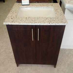 "24"" SINGH SERIES Vanity - Quartz Top, Soft Close Doors London Ontario image 1"