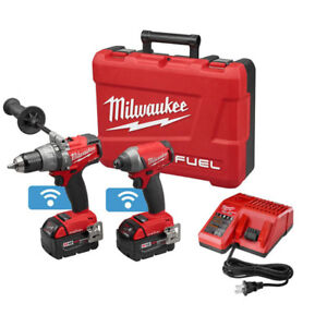 Milwaukee Tool M18 FUEL 18V Li-Ion Cordless Hammer Drill and Hex