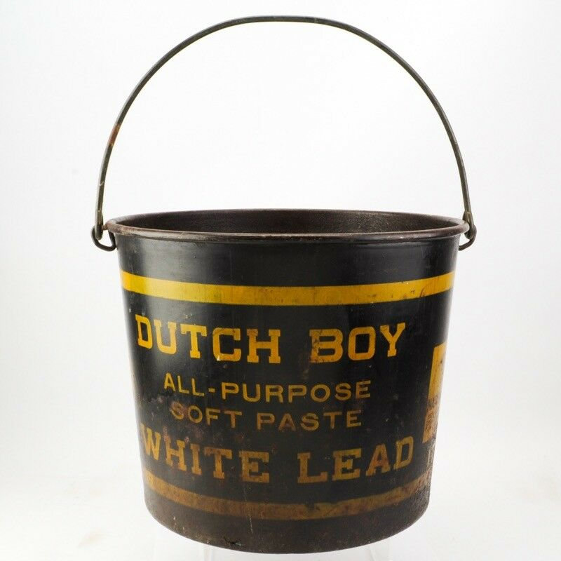 Antique Dutch Boy Paint Bucket Advertising Sign