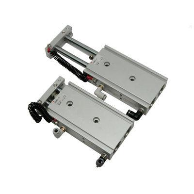 Lot Of 2 Smc Pneumatics Cxsm25-75 Compact Dual Rod Air Cylinder Wvalvesgrnd