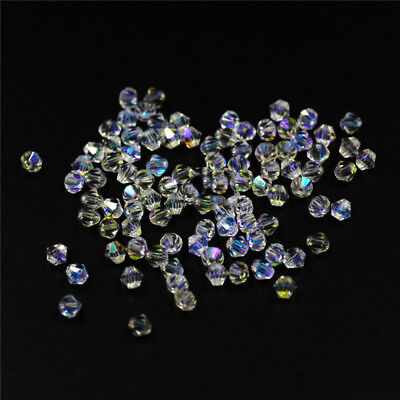 450PCS Crystal Beads Glass Beads Loose Spacer Bling Bead Clothes Ornament DIY