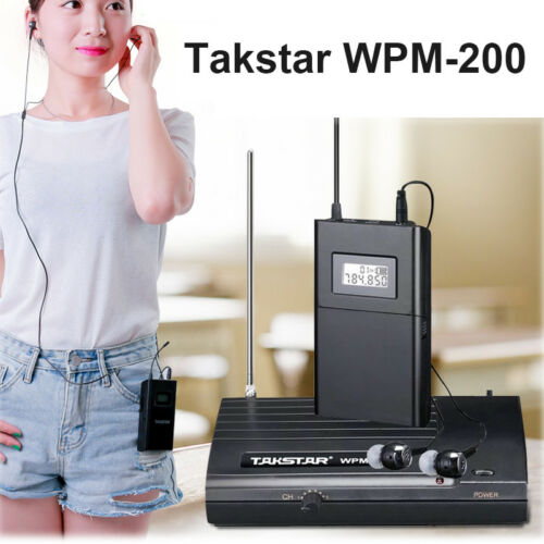 Takstar In-Ear Pro WPM-200 Wireless Monitor System 1 Transmitter+3 Receiver New