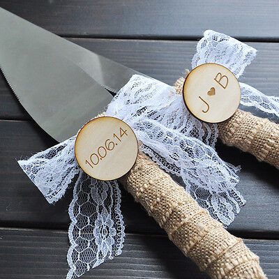 personalized rustic wedding cake cutter and knife ...