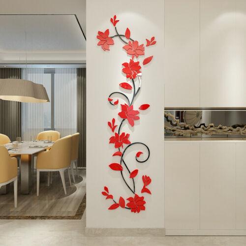 Home Decoration - 3D Flower Decal Vinyl Decor Art Home Living Room Wall Sticker Removable Mural
