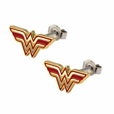 DC Comics Superhero Super Hero Wonder Woman Logo Post Stud Earrings W/Gift Box - Super Hero Females