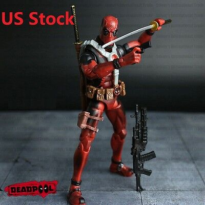 6  Hot Marvel Deadpool Universe X Men Comic Series Action Figure Toy Without Box