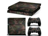 Camo ps4 vinyl wrap + controller wraps