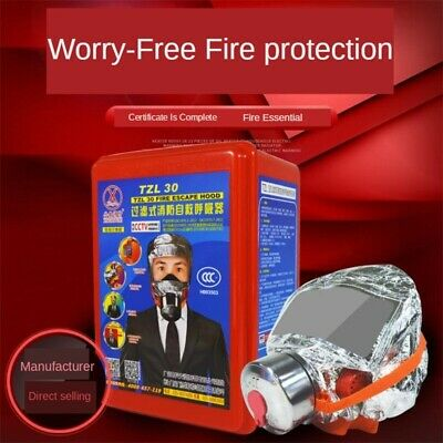 Emergency Escape Hood Oxygen Mask Respirator Fire Smoke Toxic Protective Filter