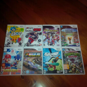 11 Nintendo Wii games - $50 for the last 5, going quickly!