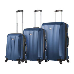 New Mia Viaggi Italian 3 Piece Luggage Set - black/blue/red ++