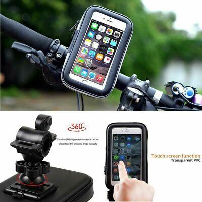 Motor Bike Bicycle Waterproof 360° Phone Holder Mount Case For All Mobile Phones